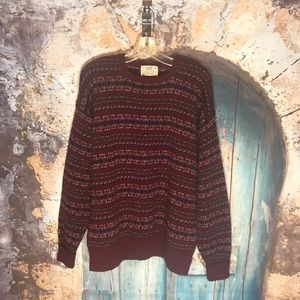 Sweaters - Lord Jeff Size Large Red 100% Wool Sweater Vintage
